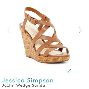 Jessica Simpson Jazlin Leather Wedge Heels
